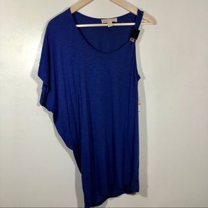 NWT Michael Kors One Sleeve Scoop Neck Tunic